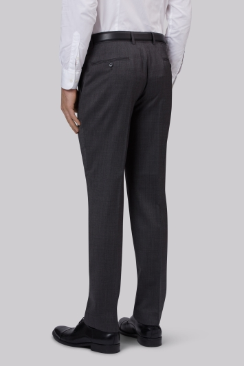 Lanificio F.lli Cerruti Dal 1881 Cloth Tailored Fit Charcoal Semi Plain Trouser