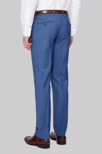 Ted Baker Tailored Fit French Blue Sharkskin Trouser