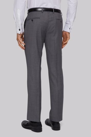 Ted Baker Tailored Fit Silver Sharkskin Trouser