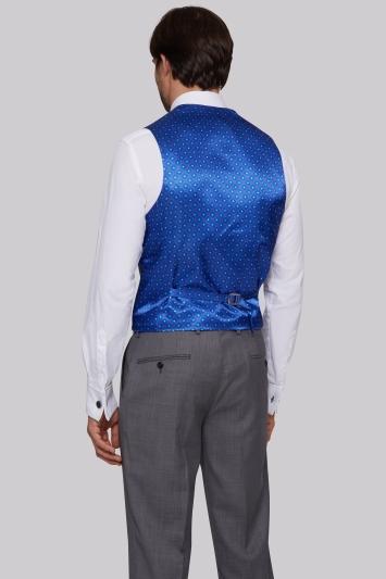 Ted Baker Tailored Fit Silver Sharkskin Waistcoat
