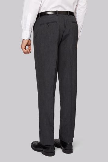 Moss Esq. Regular Fit Regular Fit Grey Pindot Trousers