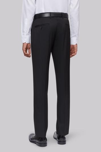 Moss London Skinny Fit Machine Washable Black Trousers