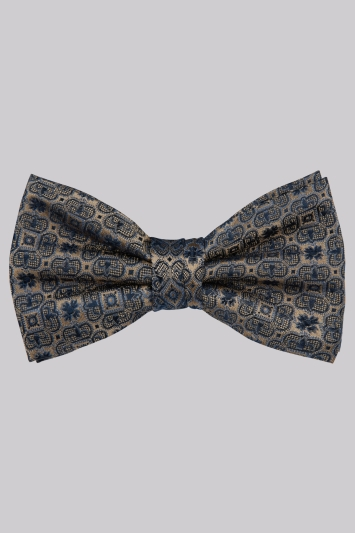 Moss 1851 Taupe Medallion Bow Tie