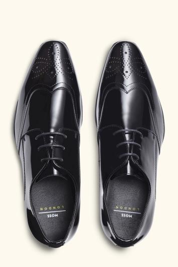 Moss London Hatchon Patent Brogue Dress Shoe