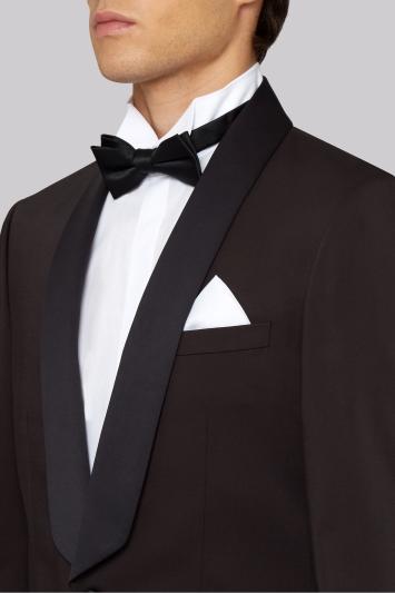 Moss London Skinny Fit Deep Maroon Dress Jacket