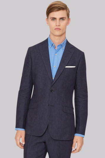 Hardy Amies Navy Linen Jacket