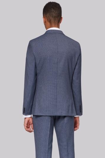 Moss London Skinny Fit Light Blue Texture Jacket