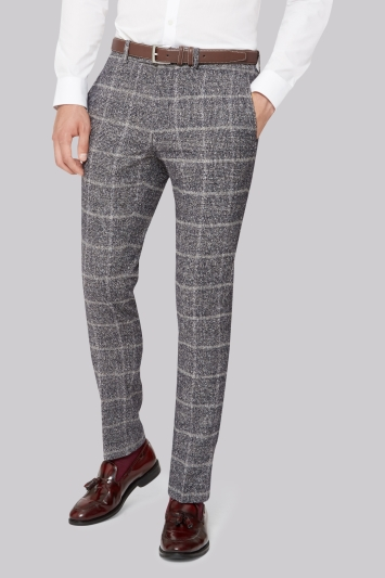 Moss London Skinny Fit Speckled Check Trouser