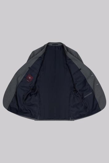Moss Esq. Regular Fit Airforce Blue Birdseye Jacket