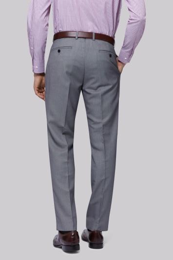 Moss Esq. Regular Fit Black & White Birdseye Trousers