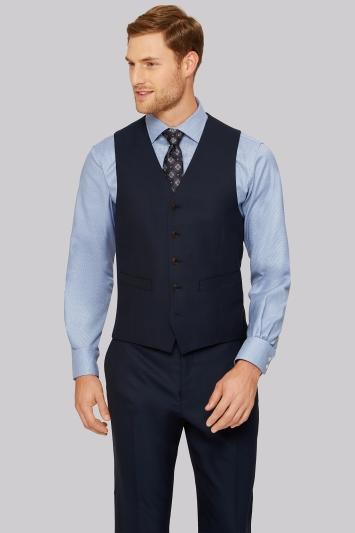 Ermenegildo Zegna Cloth Regular Fit Ink Waistcoat