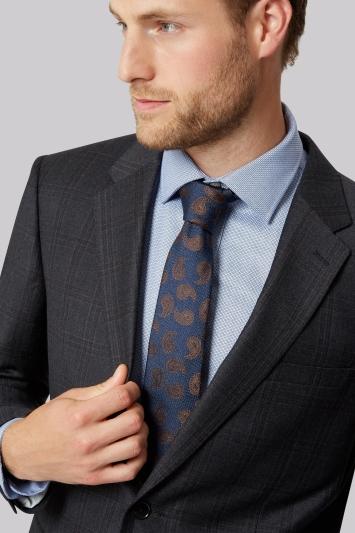 Ermenegildo Zegna Cloth Regular Fit Grey & Burgundy Check Jacket