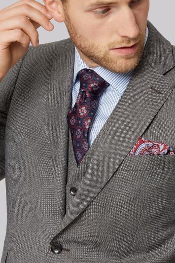Savoy Taylors Guild Regular Fit Neutral Milled Birdseye Jacket