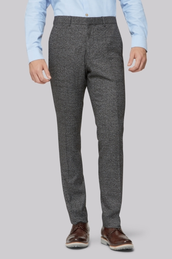 Moss London Black Grey Scratch Trousers