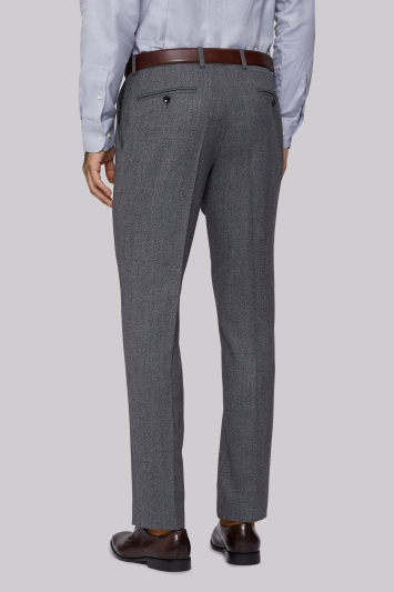 Moss 1851 Tailored Fit Light Grey Speckled Trousers