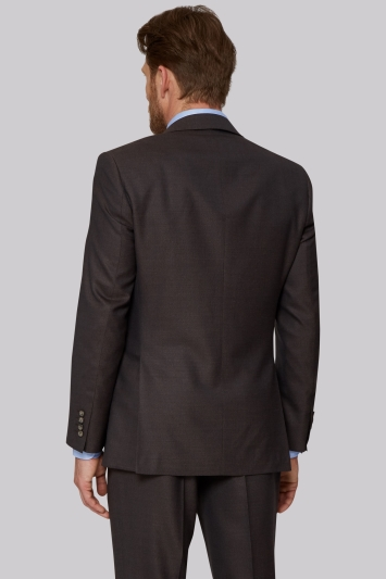 Ermenegildo Zegna Cloth Regular Fit Brown Sharkskin Suit
