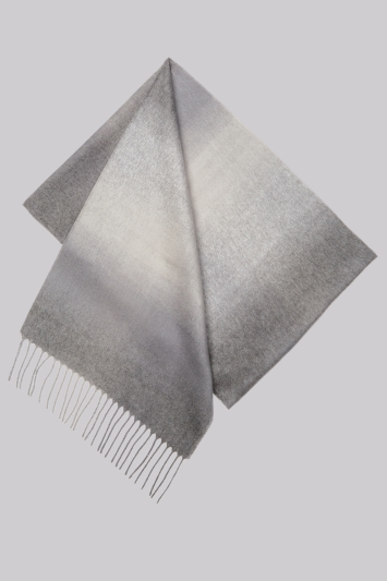 Moss 1851 Grey Ombre Scarf