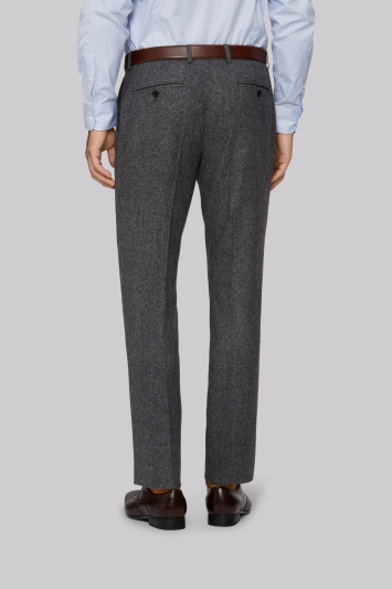 Moss 1851 Grey Donegal Trousers