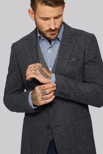 Moss 1851 Grey Textured Jacket