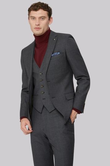 Ted Baker Tailored Fit Charcoal Melange Jacket