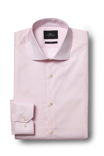 Slim Fit Pink Stretch Shirt