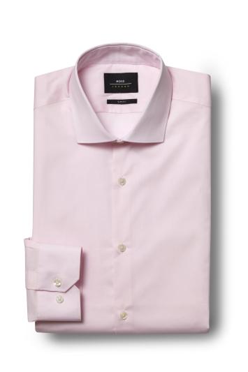 Slim Fit Pink Stretch Shirt