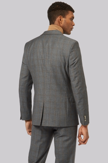 Ted Baker Tailored Fit Grey Rust Windowpane Jacket
