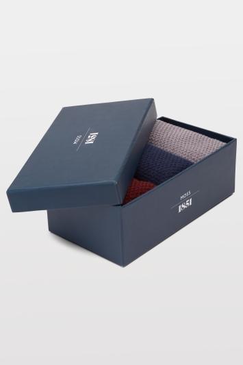 Moss 1851 Multi Waffle Texture Socks Gift Box