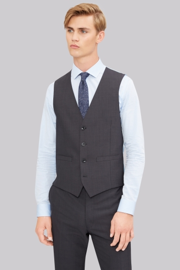 French Connection Slim Fit Charcoal Waistcoat
