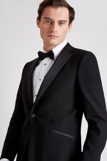 Moss 1851 Tailored Fit Black Notch Lapel Dress Jacket
