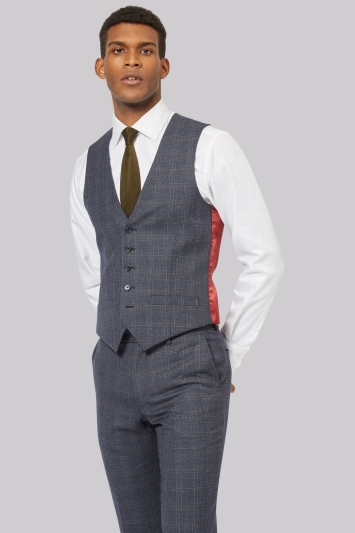 Ted Baker Tailored Fit Blue Check Jacket