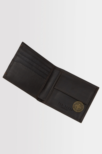 Ted Baker Chocolate Leather Wallet