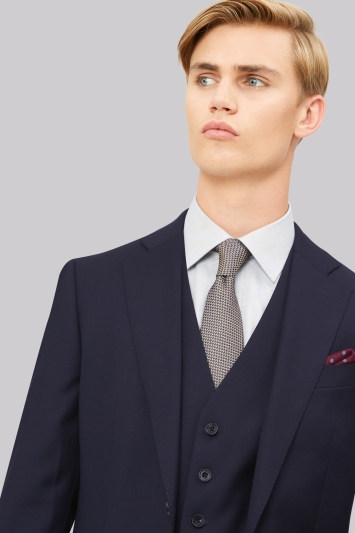 Hardy Amies Tailored Fit Navy Jacket