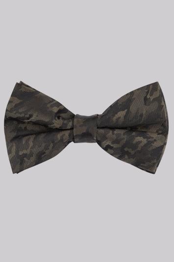 Moss London Khaki Camo Bow Tie