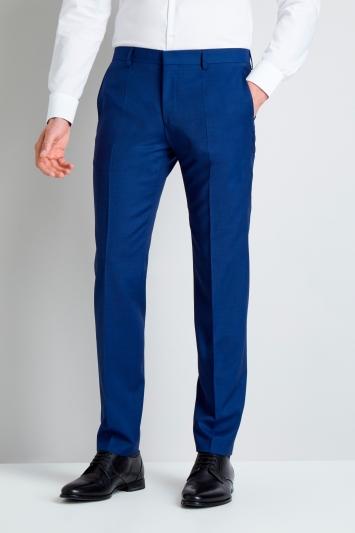 HUGO by Hugo Boss Bright Blue Pindot Trousers