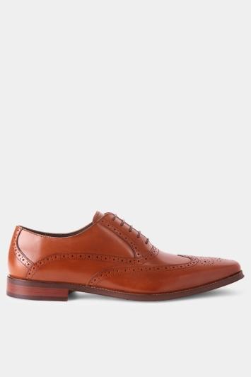 John White Hercules Tan Brogue Shoe