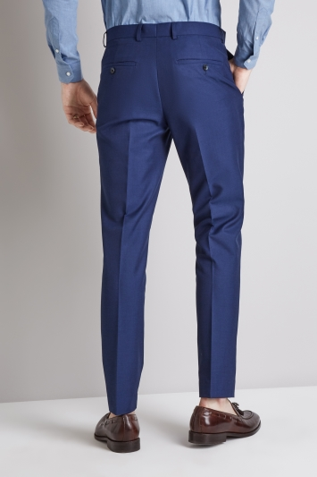 Moss London Skinny/Slim Fit Blue Trousers