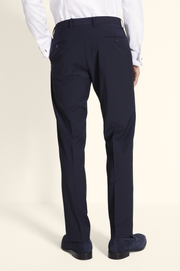 Moss 1851 Performance Tailored Fit Navy Trousers