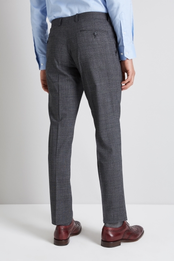 Moss 1851 Performance Tailored Fit Grey Check Trouser