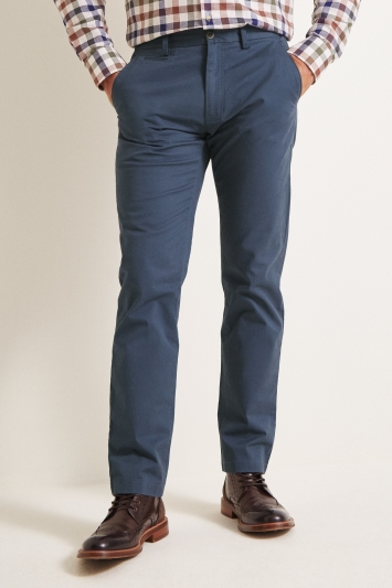 Moss 1851 Tailored Fit Admiral Blue Stretch Chino