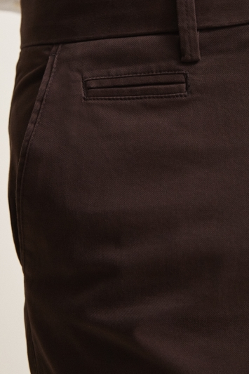Tailored Fit Chocolate Stretch Chino
