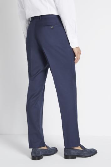 Savoy Taylors Guild Regular Fit Navy Twil Trouser
