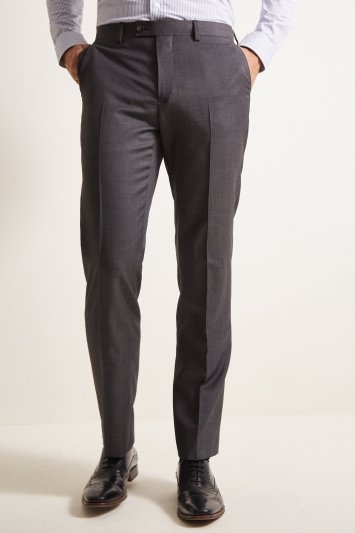 Ted Baker Tailored Fit Grey Pindot Trousers