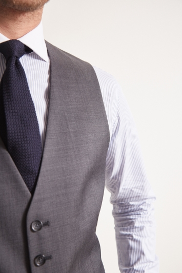 Ted Baker Tailored Fit Grey Pindot Waistcoat
