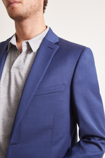Ted Baker Tailored Fit Bright Blue Pindot Jacket