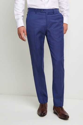 Ted Baker Tailored Fit Iris Blue Twill Trousers