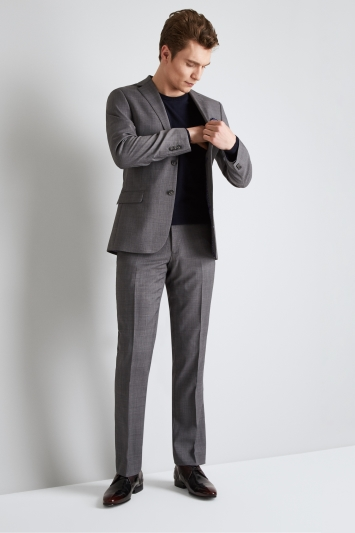 Ted Baker Tailored Fit Grey with Lilac Check Jacket