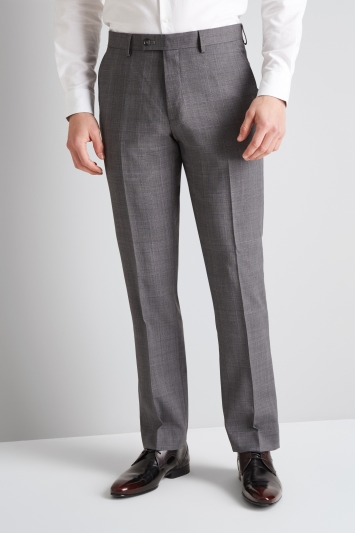 Ted Baker Tailored Fit Grey with Lilac Check Trousers
