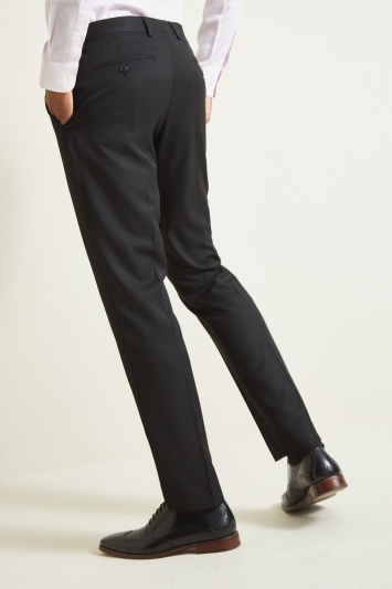 Moss 1851 Tailored Fit Plain Black Trouser
