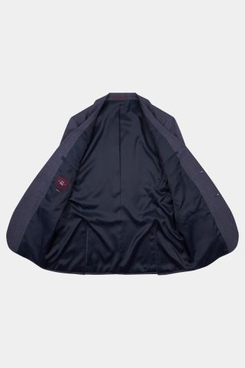 Moss Esq. Regular Fit Navy Salt and Pepper Jacket